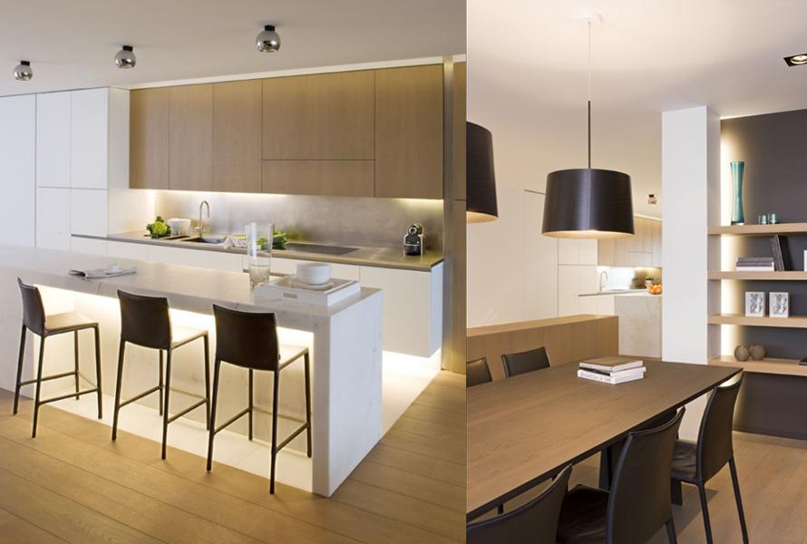 Design appartement inrichting met zicht op zee interieur for Design eetkamers