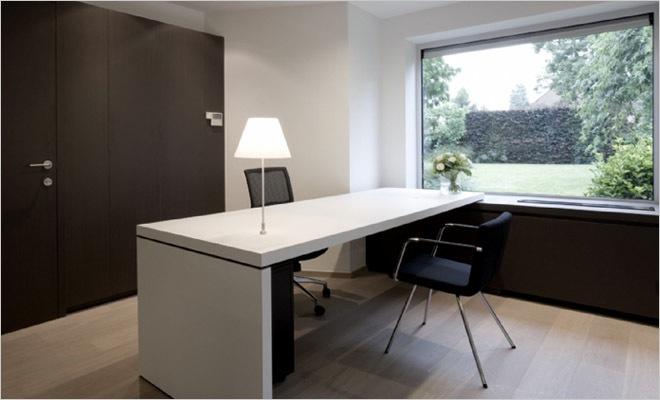 Modern Kantoor Interieur : Bank en verzekeringskantoor inrichting met modern interieur