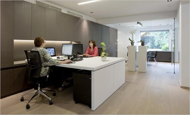 Kantoorinrichting Consultancy Bureau : Bank en verzekeringskantoor inrichting met modern interieur