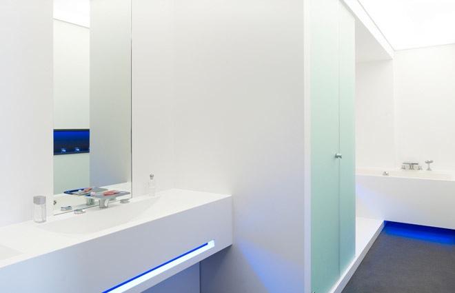 Design penthouse inrichting in antwerpen elft interieur - Chocolade en witte badkamer ...