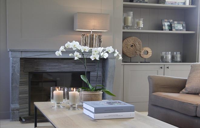 Landelijke villa inrichting met een landelijk strak interieur - Interieur inrichting moderne woonkamer ...