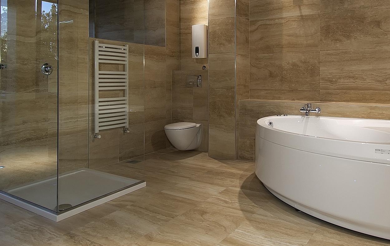 natuursteen tegels: voor- en nadelen van natuurstenen vloer, Badkamer
