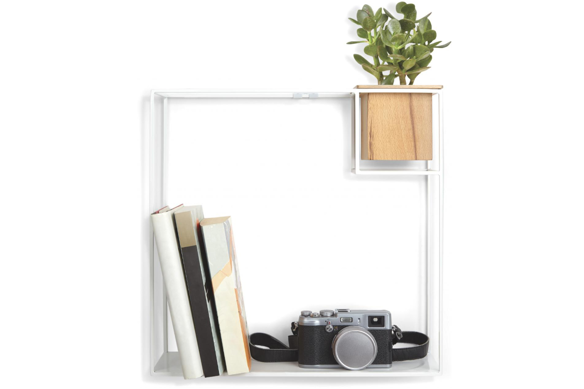 Umbra Cubist Wandrek : Umbra cubist shelf design wandplank