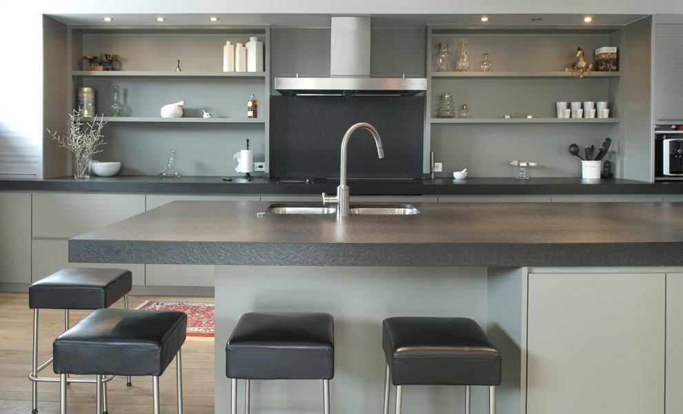 gerenoveerde keuken landelijk modern